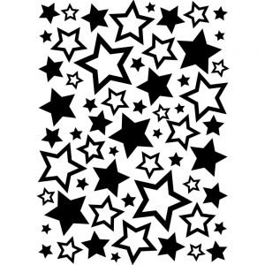 Darice Embossing Folder - Assorted Stars