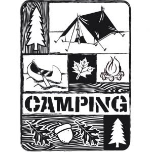 Darice Embossing Folder - Camping