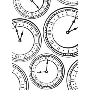 Darice Embossing Folder - Clocks