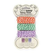 We R Memory Stitching Threads Orange/Green/Purple