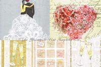 Designer Large Napkins Kit - Wedding Set